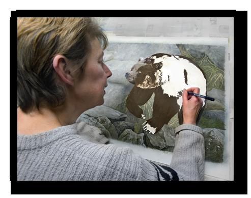 Francoise dessine un ours